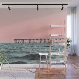 Pink Ocean Wall Mural