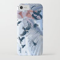 raven iPhone & iPod Cases featuring Raven by Radical Ink by JP Valderrama