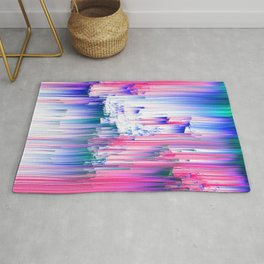 Only 90s Kids - Pastel Glitchy Abstract Pixel Art Rug