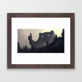 yo bro is it safe down there in the woods? yeah man it's cool Framed Art Print