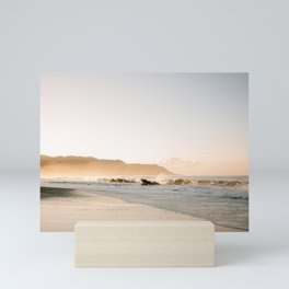 The golden coast   Sunrise at Santa Teresa beach Costa Rica   Ocean vibes photography Mini Art Print