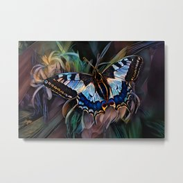 Alighted Swallowtail Butterfly Metal Print