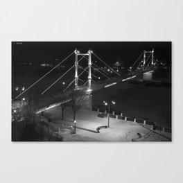 Night Europe-Asia Bridge III Canvas Print