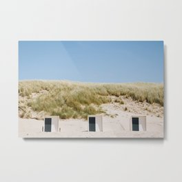 Photo of Tiny Beach Houses in Schoorl, The Netherlands   Colorful travel photography   Metal Print