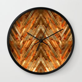 Wood Plank Texture Wall Clock