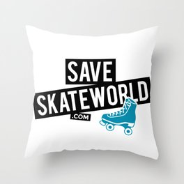 Save Skateworld Throw Pillow