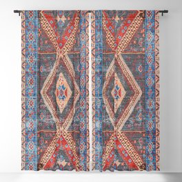 (N16) Boho Moroccan Oriental Artwork for Rustic and Farmhouse Styles. Blackout Curtain
