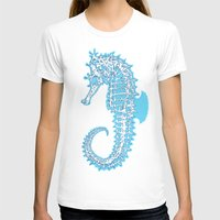sea horse T-shirts featuring Sea horse by Thom Deer