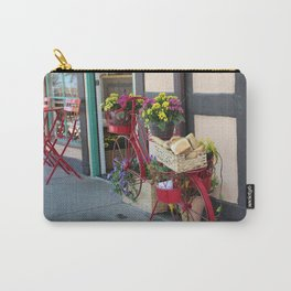 Bakery in Bicycle Basket At Solvang in Color Carry-All Pouch