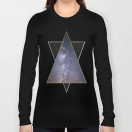 Galaxy Triangles in Gold + Silver Long Sleeve T-shirt