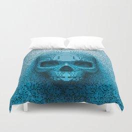 Pixel skull Duvet Cover