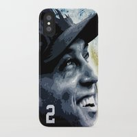 yankees iPhone & iPod Cases featuring The Captain by Prehistoric Robot