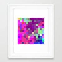 pixel art Framed Art Prints featuring Pixel by FABIAN•SMITH