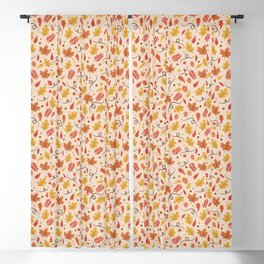Fall Leaves Pattern Blackout Curtain