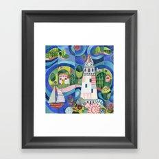 Island Lighthouse Framed Art Print