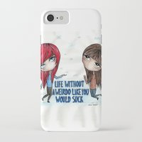 friendship iPhone & iPod Cases featuring Friendship by alice kasper