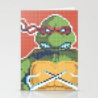 teenage mutant ninja turtles Stationery Cards featuring Teenage Mutant Ninja Turtles - Raphael by James Brunner