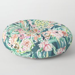 PINEAPPLE PARTY Lush Tropical Boho Floral Floor Pillow