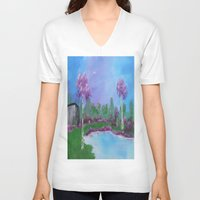 relax V-neck T-shirts featuring relax by Krista May