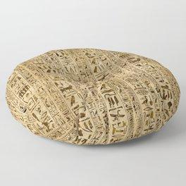 Egyptian hieroglyphs on papyrus Floor Pillow