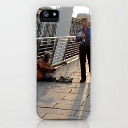 Hungerford Bridge Busker iPhone Case