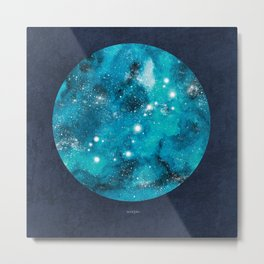 Scorpio zodiac constellation on navy blue Metal Print
