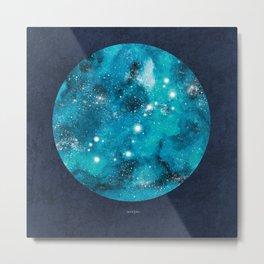 Scorpio zodiac constellation on navy blue Metal Print
