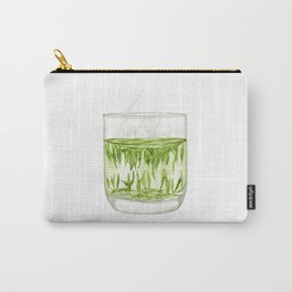 Watercolor Illustration of A glass of Chinese Maojian green tea Carry-All Pouch