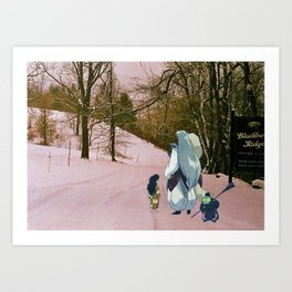 Sesshomaru, Rin and Jaken (Burnsville NC) (Inuyasha) Art Print