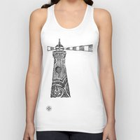 lighthouse Tank Tops featuring Lighthouse by Hinterlund
