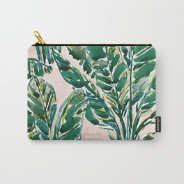 BIG FEELINGS Banana Leaf Tropical Carry-All Pouch
