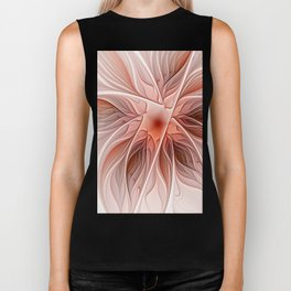 Flower Decoration, Abstract Fractal Art Biker Tank