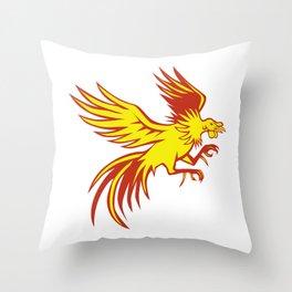 Game Cockerel Fighting Shuffling Retro Throw Pillow