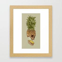 Pineapple Skull Framed Art Print