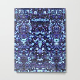 Robot World Metal Print