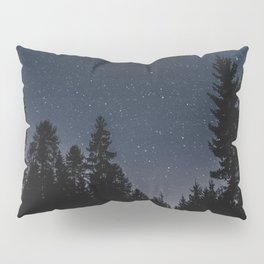 Star Night in the Woods | Nature and Landscape Photography Pillow Sham