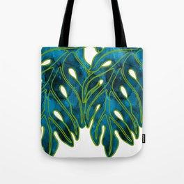 Blue & Green Mix Lau Ulu Leaf Tote Bag