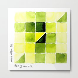 Color Chart - Lemon Yellow (DS) and Sap Green (DS) Metal Print