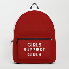 Girls Support Girls Feminist Quote Backpack