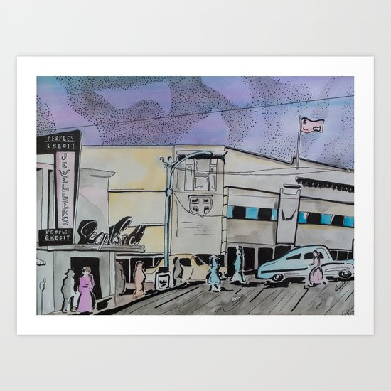 Jasper Avenue: Old Streets Grown Anew  Art Print