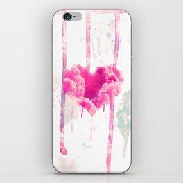 Bleed   Modern Pink Cloud Love Heart Pink Watercolor Drips iPhone Skin