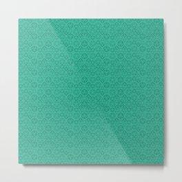 Green dice pattern Metal Print