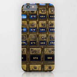 Post Office Boxes iPhone Case