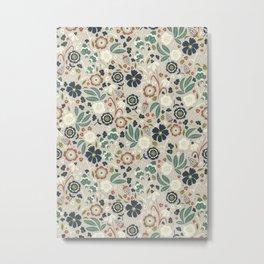Flourishing Florals (Light-Green) Metal Print