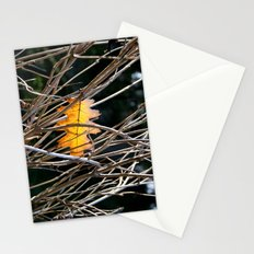 Golden Leaf Stationery Cards