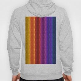 Jewel Tone Color Stripes Hoody