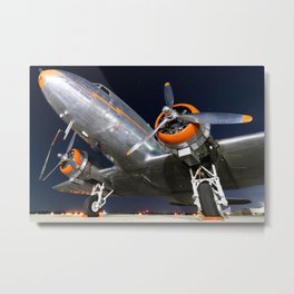 DC3 at Night Metal Print