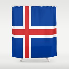 The Flag of Iceland Shower Curtain