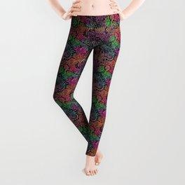Rainbow Tie Dye Zentangle Leggings