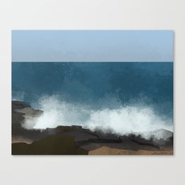 breaking waves Canvas Print